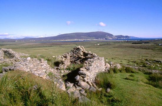 Deserted village Achill Island